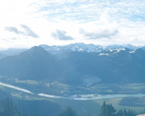 Blick auf den Wendelstein und seine Nebengipfel vom Heuberg