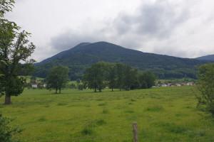 Blick zur Farrenpoint - Wegpunkt 1 entlang der Tour