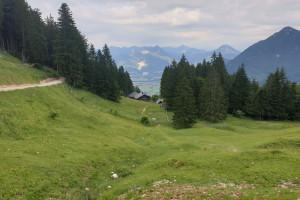 An der Breitenberghütte - Wegpunkt 4 entlang der Tour