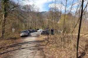 Wanderparkplatz in Windshausen - Startpunkt der Mountainbike Tour