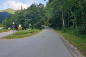 Auffahrt Breitenau - Startpunkt der Mountainbike Tour