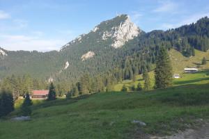 Abfahrt über die Aiblinger Hütte - Wegpunkt 10 entlang der Tour