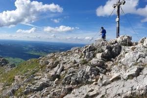 Gipfel Breitenstein (1622 m) - Wegpunkt 9 entlang der Tour