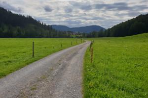 In Richtung Elbach - Wegpunkt 15 entlang der Tour