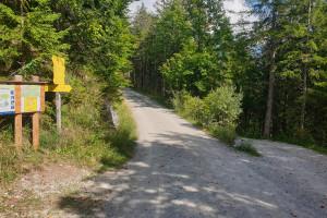 Abzweigung zum Sillberghaus - Wegpunkt 12 entlang der Tour