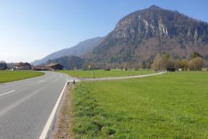 Einfahrt Richtung Kirnstein - Wegpunkt 1 entlang der Tour