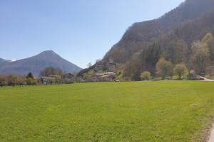 Blick auf Burgruine Falkenstein - Wegpunkt 15 entlang der Tour
