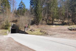 Am Tunnelberg - Wegpunkt 14 entlang der Tour