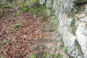 Steinerne Stiege - Wegpunkt 5 entlang der Tour