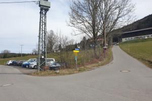Parkplatz Schwarzenbergstraße - Startpunkt der Mountainbike Tour