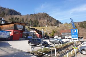 Talstation Skigebiet Hocheck - Startpunkt der Mountainbike Tour