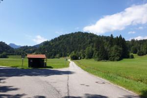 Abzweigung Richtung Rechenau - Wegpunkt 5 entlang der Tour