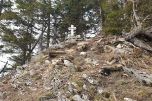Gipfel Hirschnagel - Wegpunkt 7 entlang der Tour