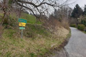 Hinter der Dandlberg-Alm - Wegpunkt 6 entlang der Tour