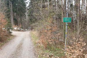 Hinweistafel zum Naturschutz - Wegpunkt 12 entlang der Tour