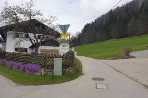 Weggabeldung Dandlberg-Alm - Wegpunkt 4 entlang der Tour
