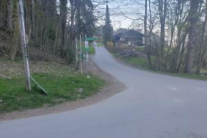Abzweigung zur Schweinsteig - Wegpunkt 9 entlang der Tour