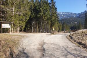 Oberes Jenbachtal - Wegpunkt 1 entlang der Tour